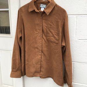 Pendleton Button Down Faux Suede Shirt